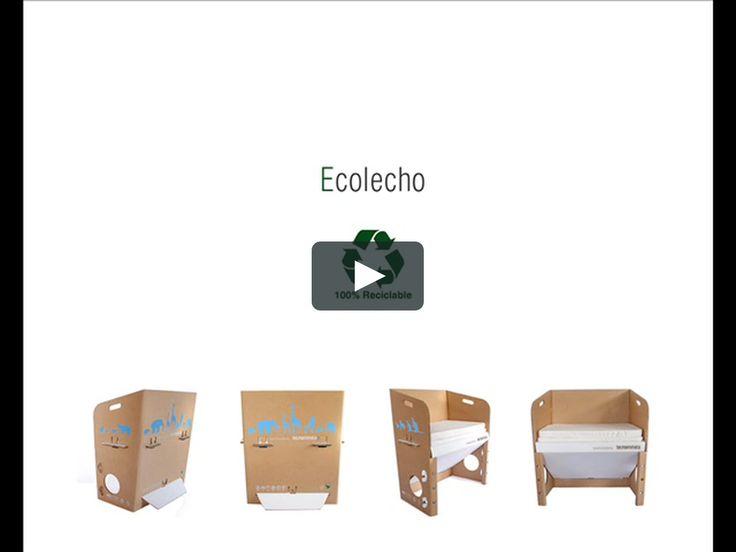 Cunas EcoLecho 100% chilena y 100% reciclable. Simple, liviana, segura y eco amigable.