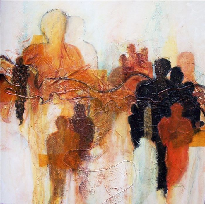 """""""Cultural Connection"""", mixed media on canvas by Maryika Welter - Landsborough Galleries"""