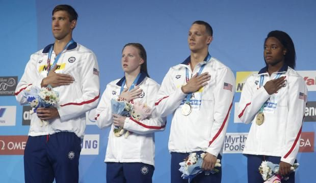 Former Florida high school #swimmers, Ryan Murphy (Bolles), Caeleb Dressel (Clay) combine for gold, world record at FINA championships | jacksonville.com
