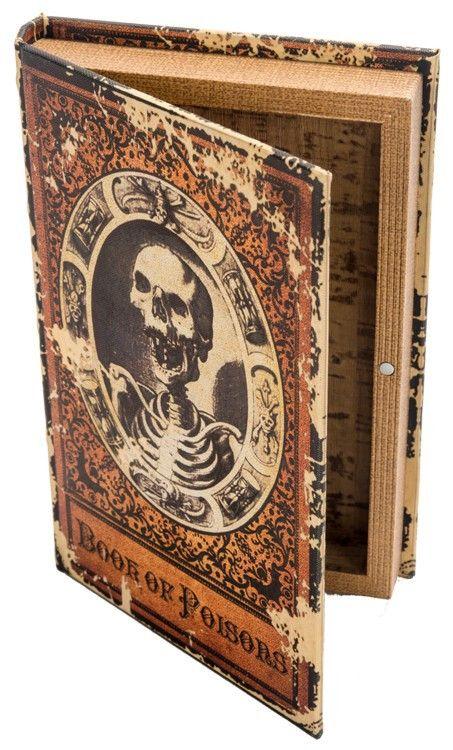 Un livre mystérieux de Poisons Box, une cachette secrète pour vos formules ou souvenirs …  – HALLOWEEN GATHERINGS