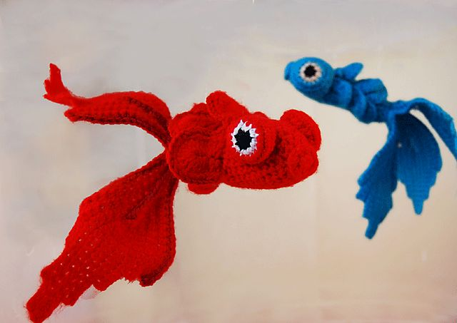 Ravelry: 20g crocheted fish pattern by Aurélie MarieMad  Free pattern. PDF SAVED.