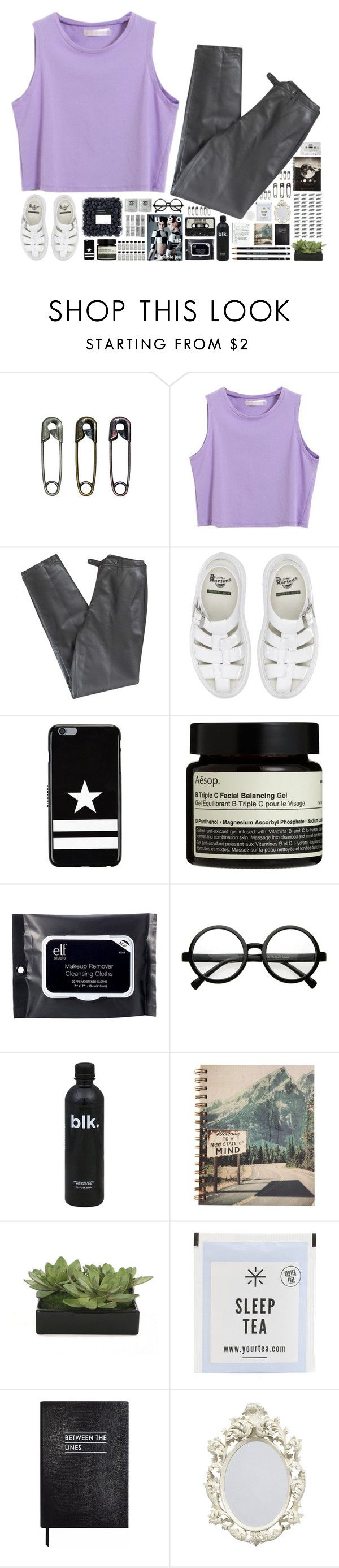 """""""Gravity don't mean too much to me"""" by spottdrossel ❤ liked on Polyvore featuring Tim Holtz, Lafayette 148 New York, Dr. Martens, Givenchy, Aesop, e.l.f., Retrò, Lux-Art Silks and Sloane Stationery"""