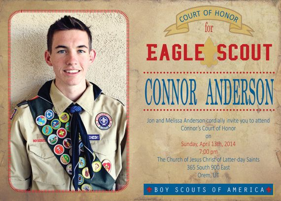 Matt The Scout Boy Credits Version 2: Eagle Scout Invitations On