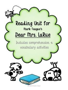 dear mrs larue writing activities