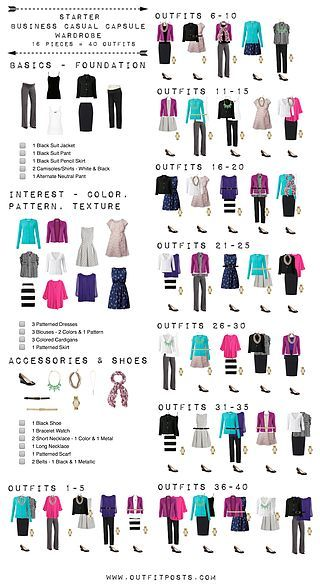Starter business casual capsule wardrobe checklist | Outfit Posts | Bloglovin'