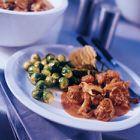 Recept Stoofschotel van ree met zilveruitjes, shii-take en kruidkoek - recept - okoko recepten