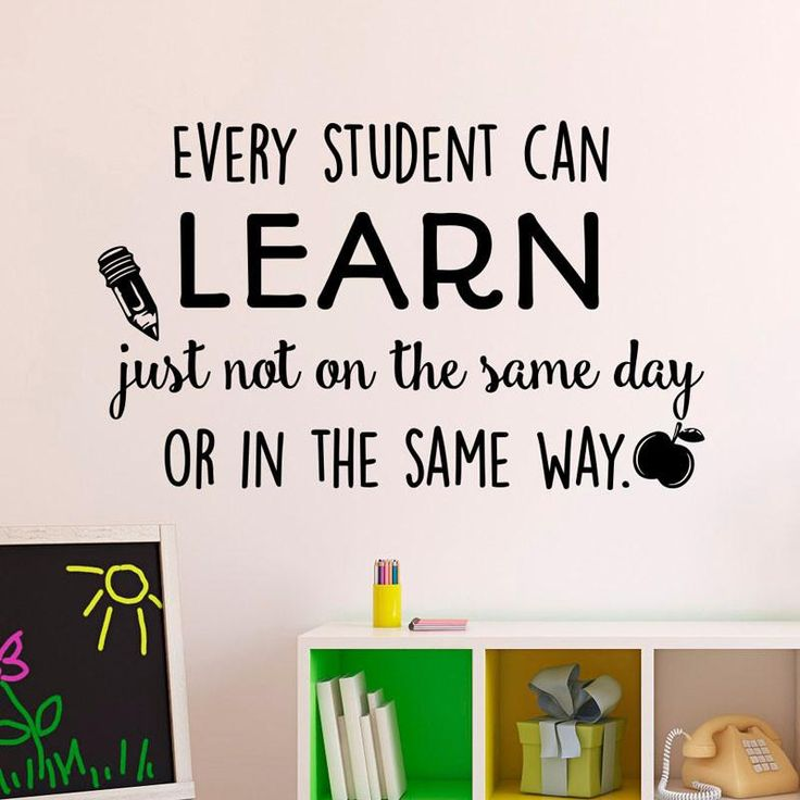Add flairto your classroom with this eye-catchinginspirational wall decal. This wall sticker is great for back to school decorating!