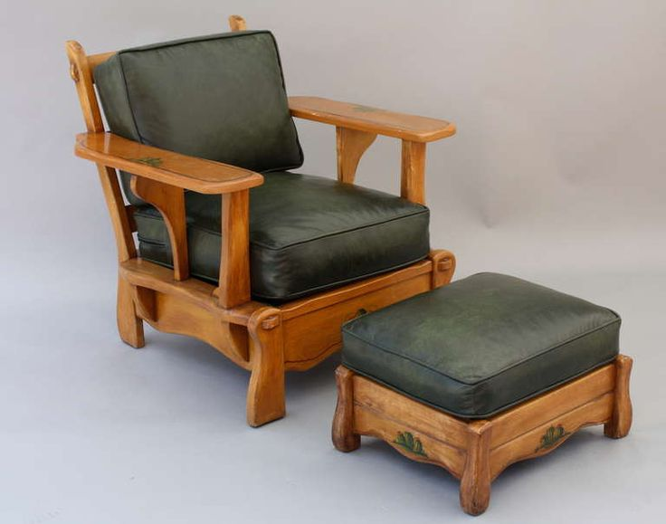 Monterey Style Armchair And Ottoman Armchairs Chairs