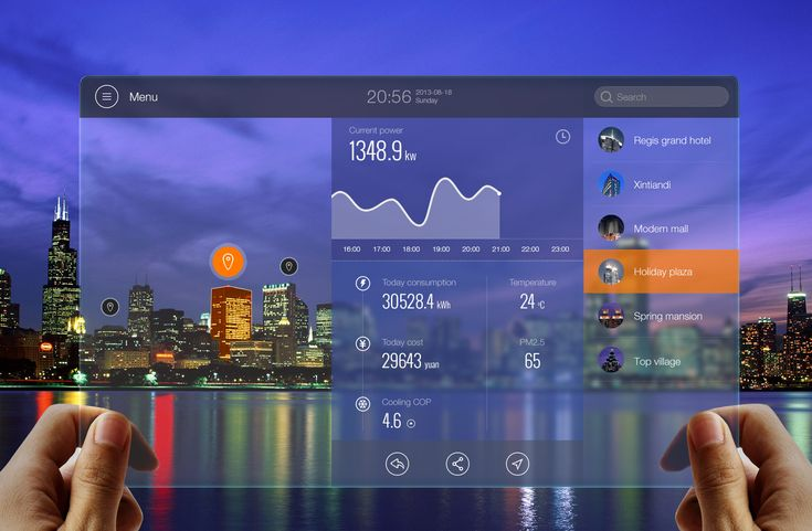 AR Energy Monitoring UI by Kingyo. A part of augmented reality energy monitoring…