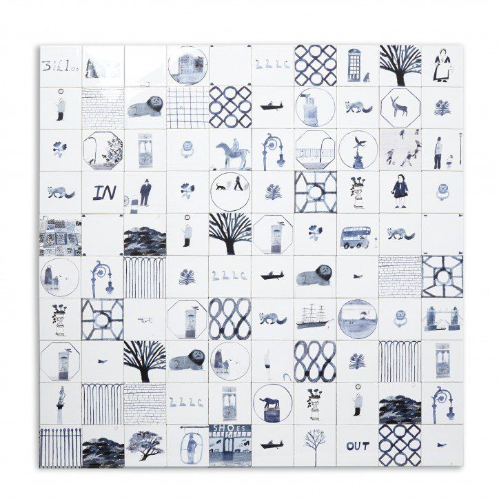 London Life Tile Mural | Laura Carlin | The New Craftsmen