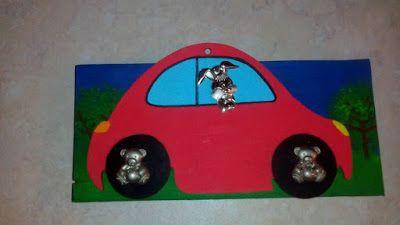 my creations : Παιδική κρεμάστρα με ασημένια στοιχεία (το λαγουδά...