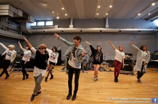 The FNC Entertainment family rehearse for their joint concert in Japan this weekend | allkpop.com