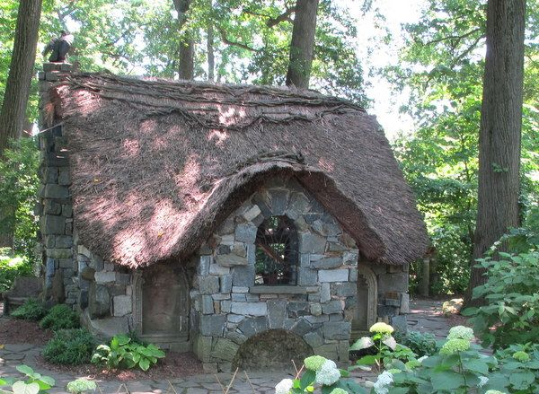 Fairy cottage in the enchanted woods at Winterthur Garden, DE