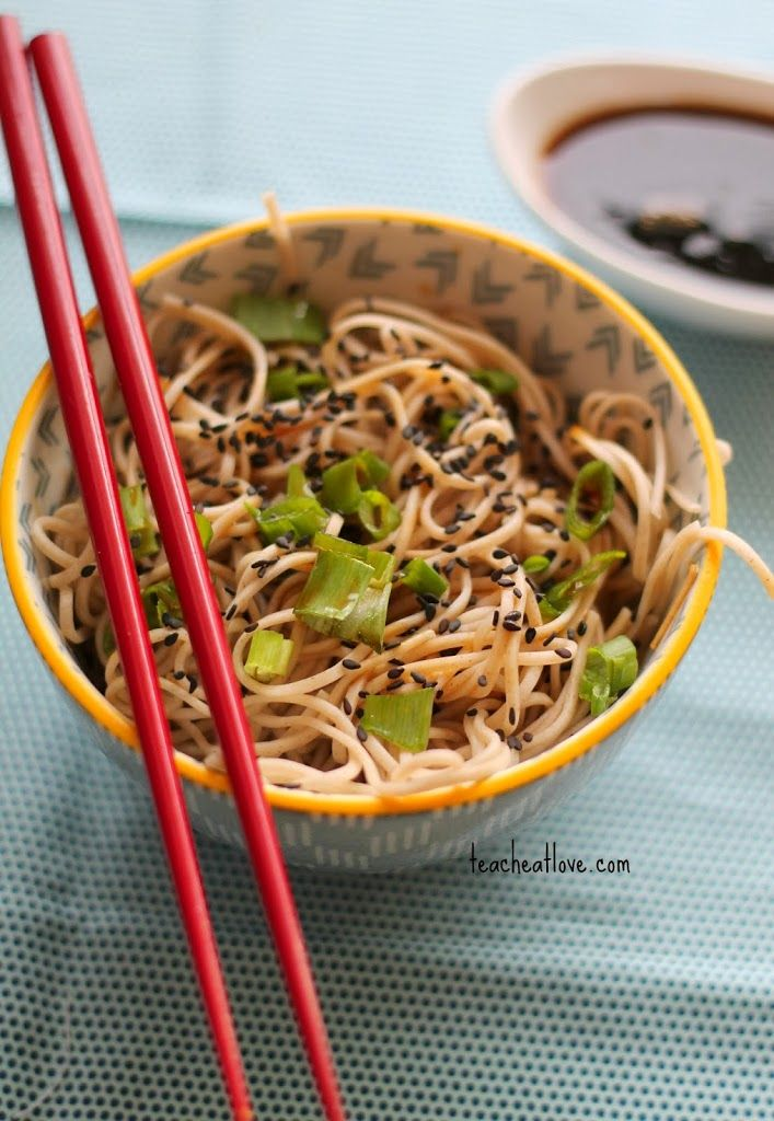 Soba Noodles with Awesome Sauce | Teach Eat Love