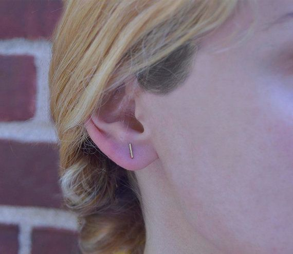 Check out this item in my Etsy shop https://www.etsy.com/listing/477779450/bar-earring-studschristmas-giftsdainty