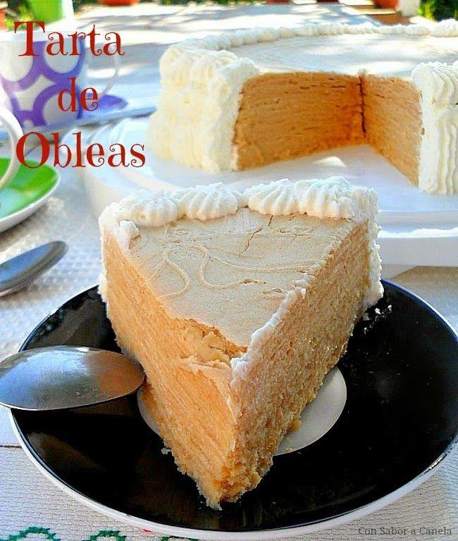 Con sabor a canela: Tarta de obleas con crema pastelera y nata