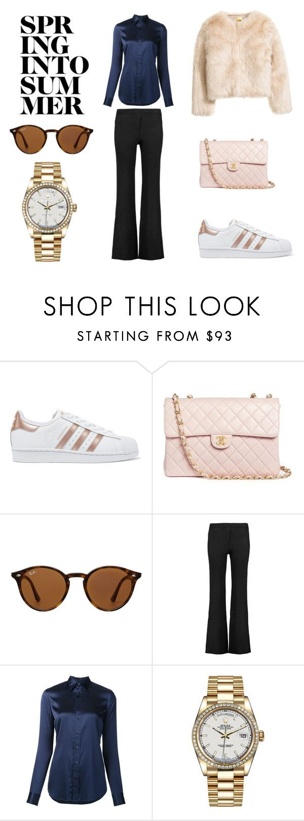"""""""Spring into summer"""" by majahellstrom on Polyvore featuring adidas Originals, Chanel, Ray-Ban, Helmut Lang, Ralph Lauren and Rolex"""