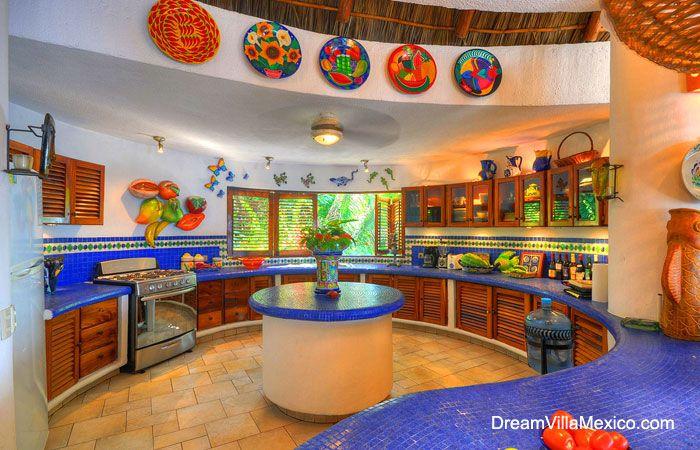 Hacienda style kitchen from kitchen decor ideas hacienda Colorful kitchen accessories