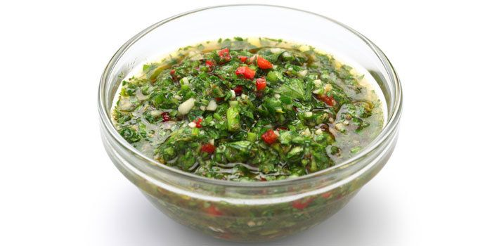 Fresh chimichurri sauce recipe with cilantro and parsley. Find plenty of recipes and fitness tips at http://www.shakeology.com/coachkane