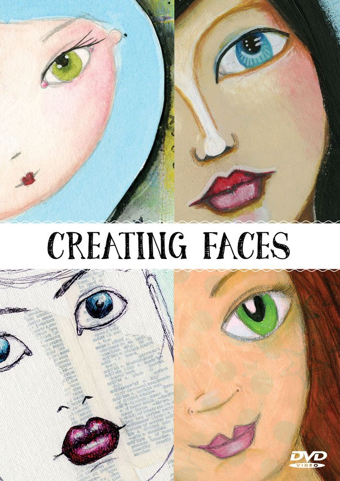 Kim Dellow: Watch my new video showing how I draw one of my mixed media faces in the new Creating Faces video from Craft Stamper and Traplet.
