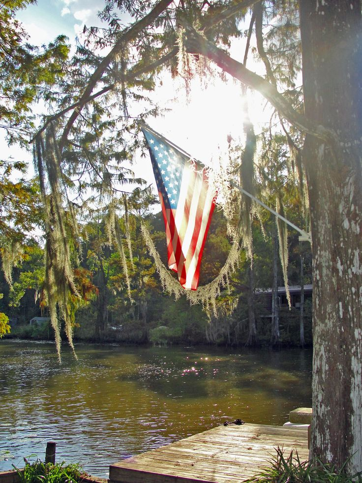 american flag: American Flags, Southern Charms, Down South, Country Living, 4Th Of July, Places, Country Life, Lakes Living, Low Country