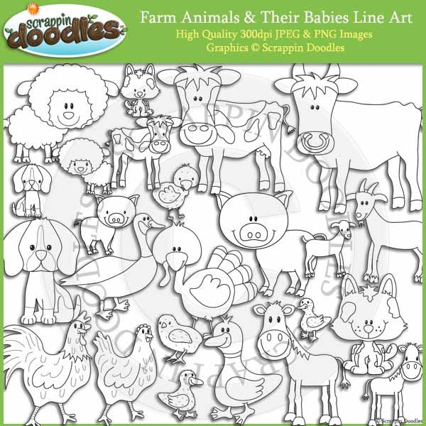 Line Art Farm Animals : Best images about farm friends on pinterest
