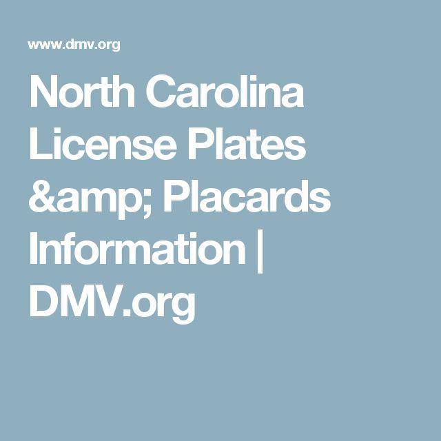 North Carolina License Plates & Placards Information | DMV.org