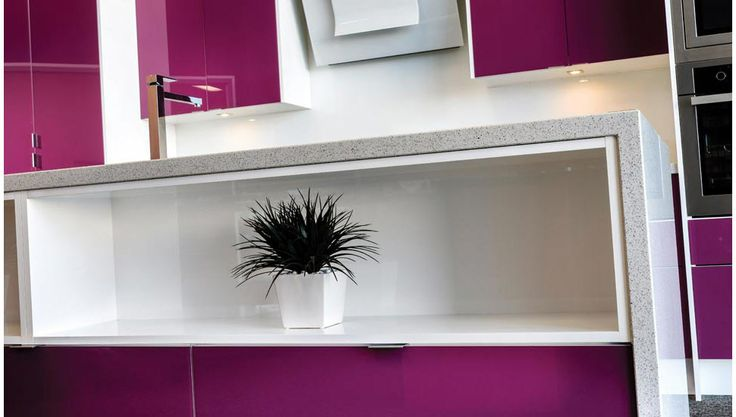 A Craftsmen range kitchen with bold colours.