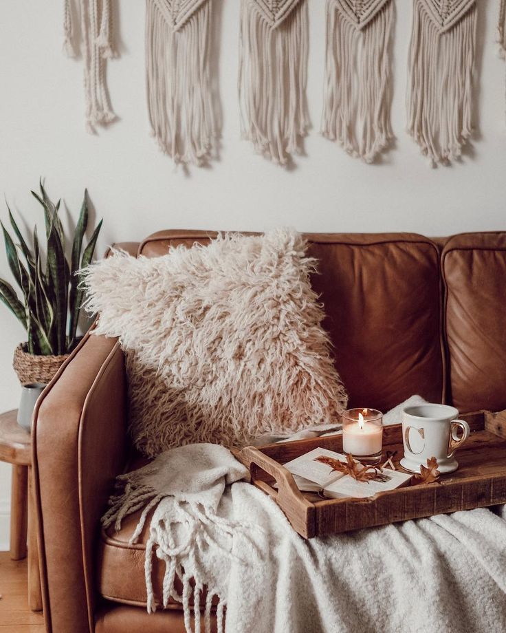 A bunch of home goodies, a tray, and a throw is an easy way to create a photo op