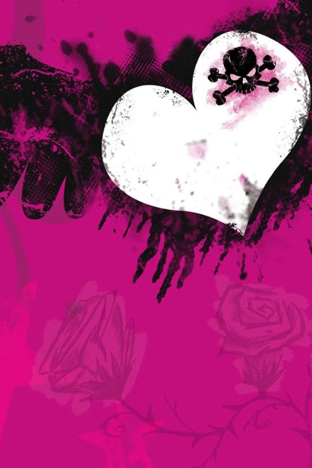 Pink and black skull wallpaper free download pink and black skull wallpaper voltagebd Choice Image
