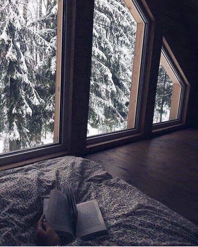 Winter weekend in a cabin