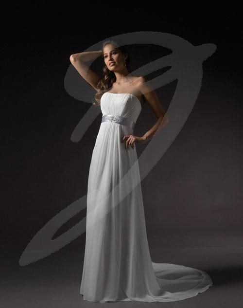 Balletts Bridal - 14529 - Wedding Gown by Jacquelin Bridals Canada - Strapless simply elegant rouched bodice gown with band at empire.  Changed to Zipper back after pictured.