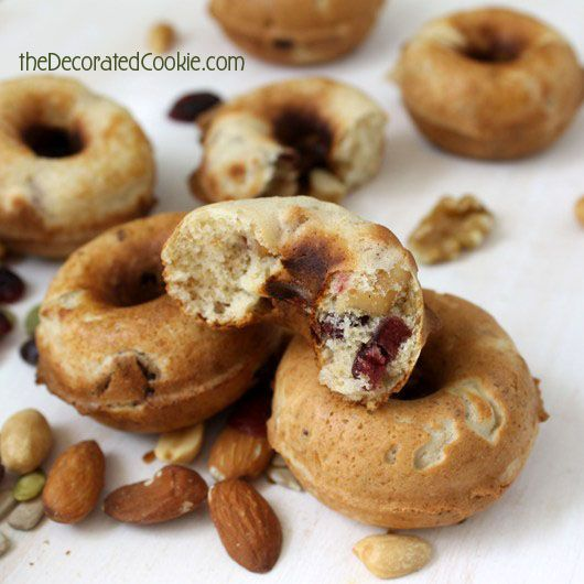 Trail mix doughnuts - would use seeds (not nuts) for allergy friendly, and of course WW/coconut flour home made pancake mix