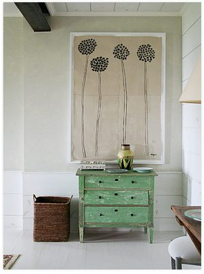 Love the Art on the wall!!! So simplistic. For dining room. Make picture multipurpose front is picture, back is galvanized metal covered in chalk paint... Great for school.