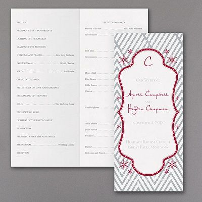 44 best save the datesinvites images on pinterest wedding for winter wedddings a geometric pattern a dotted frame and an enchanting snowflake design showcase your wording on this captivating wedding program stopboris Images