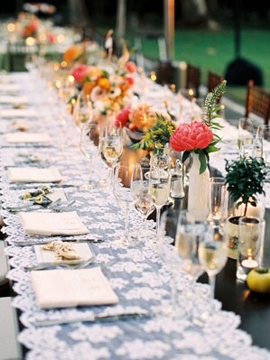 Lace, a great look for a spanish stle wedding