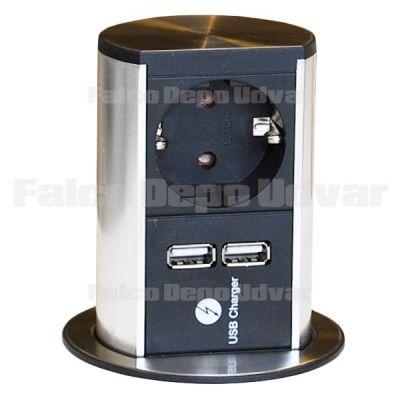 Konnektor Munkalapba süllyeszthető ELEVATOR+USB