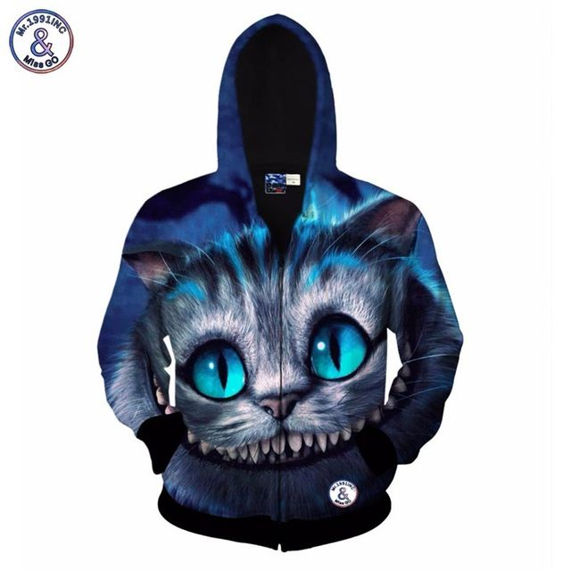 Buy now Mr.1991INC New style Autumn winter fashion hoodies for men/women 3d sweatshirt print animal Cheshire cat hooded hoody just only $28.99 with free shipping worldwide  #hoodiessweatshirtsformen Plese click on picture to see our special price for you