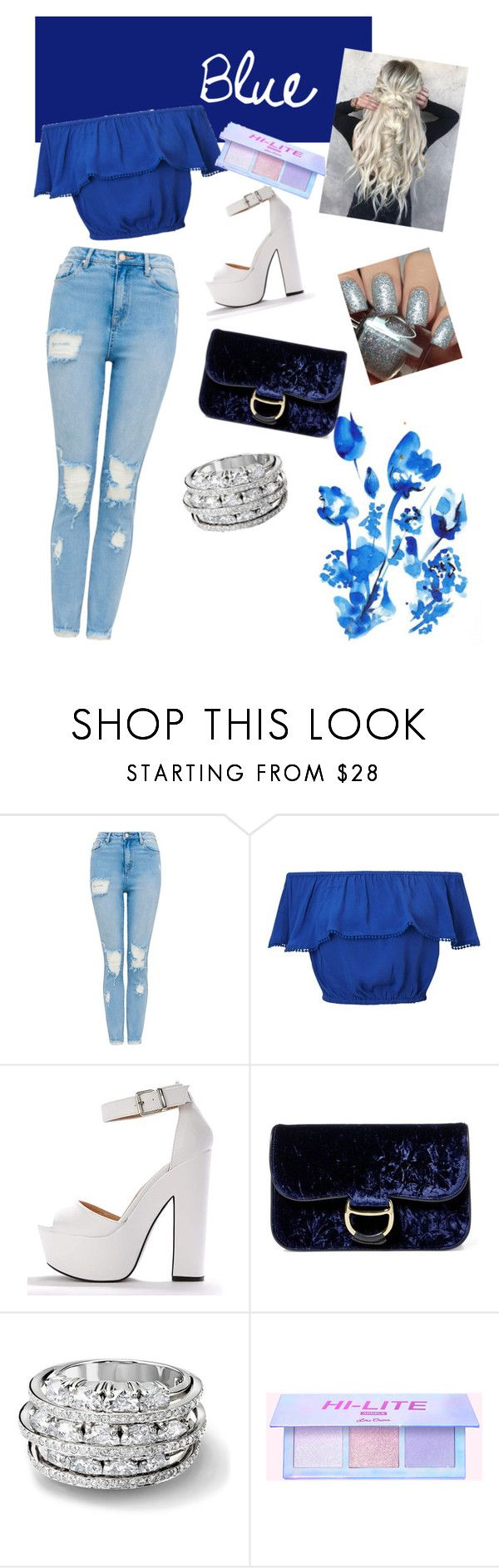 """Blue love"" by matessed ❤ liked on Polyvore featuring beauty, Miss Selfridge, Polo Ralph Lauren and Dimepiece"