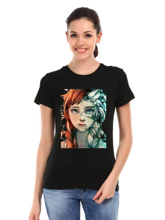 disney frozen fan art t shirt woman size  XS  3XL by ElegantPuss, $18.00
