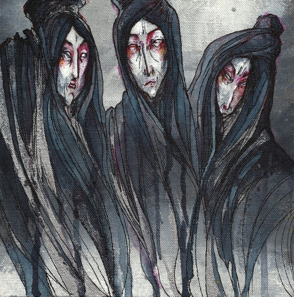 macbeth's weird sisters The weird sisters await macbeth and banquo as the two warriors, victorious from  battle, return home on the heath, they greet the two men with.