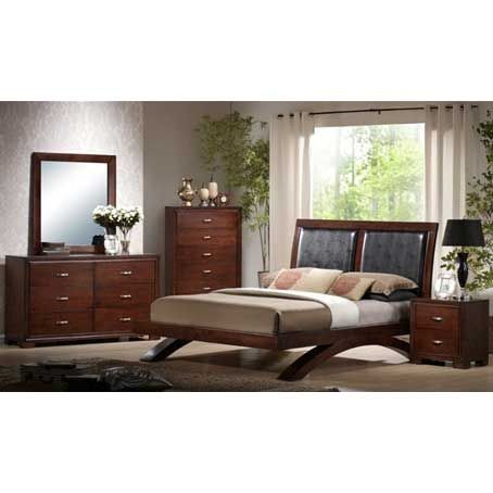 Elements International Raven 7 Piece Bedroom With Mattress Set (Chest Not  Included)