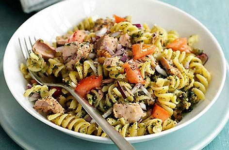 Tuna Pasta Salad with Walnut Pesto HERO