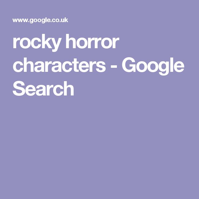 rocky horror characters - Google Search