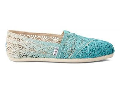 Spring shoes with Crochet pattern