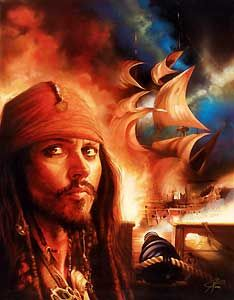 Pirates of the Caribbean - Midnight Raid - John Rowe - World-Wide-Art.com - $495.00 #Disney #JohnRowe