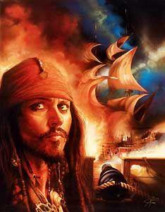 Pirates of the Caribbean - Midnight Raid - John Rowe - World-Wide-Art.com - $495.00 #Disney #JohnRowe