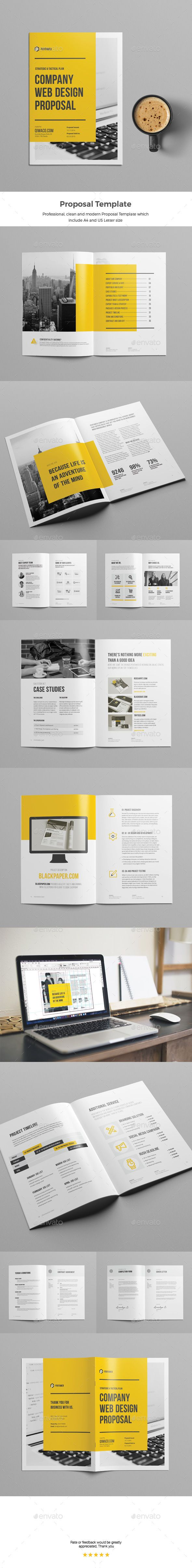 Web Design Proposal — InDesign INDD #black proposal #website proposal • Download ➝ https://graphicriver.net/item/web-design-proposal/19565422?ref=pxcr