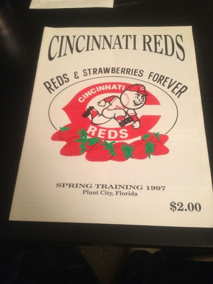 1997 Cincinnati Reds Spring Training Program #CincinnatiReds