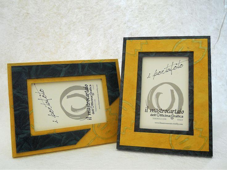 Portafoto singolo che custodisce una foto ricordo, da utilizzare per abbellire la tua parete attrezzata in soggiorno! realizzato a mano ed in carta